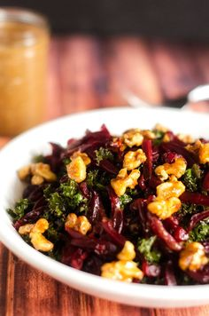 Kale and Beet Salad with Walnuts