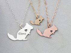 Chinchilla Necklace Animal Pendant Chinchilla Gift