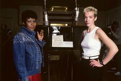 Aretha Franklin and Annie Lennox — Detroit, 1985