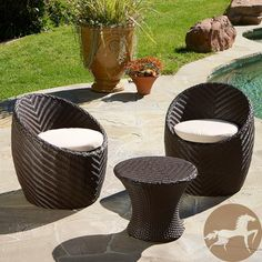 Christopher Knight Home La Jolla 3-piece Chat Set | Overstock.com
