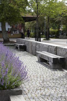 Blockstensmur, Smågatsten & Bänk