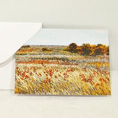 Blank Greeting Card No.7 with Envelope Featuring Images of Prairie Threadpaintings Embroidered by Monika Kinner-Whalen