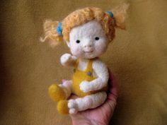 Needle felted Summer kid - (Barb Soet)