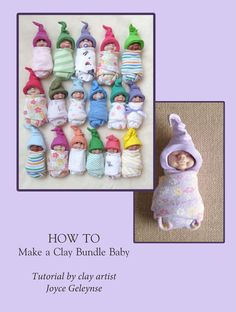 Polymer Clay Tutorial Make A Clay Bundle Baby: PDF by joycesclay