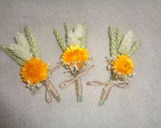 Dried flower boutonniere   Etsy ES