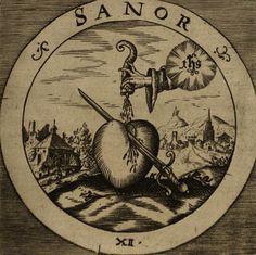 The Rosicrucian Emblems of Daniel Cramer. I Live, I Am Healed, I...