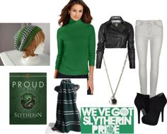 """Proud Slytherin"" by shut-up-and-dance on Polyvore"
