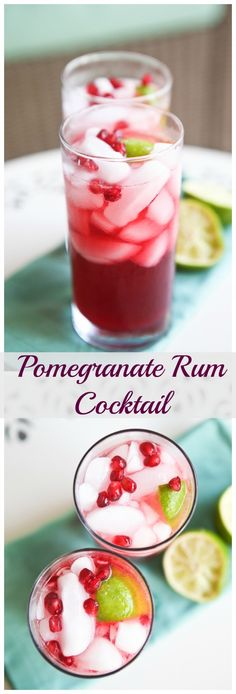 A festive way to bring in the holidays with a seasonal cocktail! Pomegranate, lime and rum - shaken not stirred! Cheers!