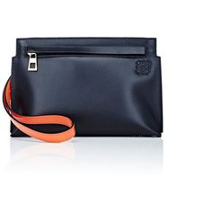 LOEWE T Mini-Pouch (3,555 CNY) ❤ liked on Polyvore featuring bags, handbags, clutches, black, mini handbags, pouch purse, mini pochette, flat pouch and miniature purse