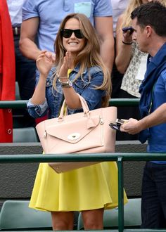 Kim Sears wears long-sleeved Victoria Beckham dress to watch Murray play Wimbledon final Red Fashion, Daily Fashion, Womens Fashion, Wimbledon Final, Wimbledon 2013, Andy Murray Girlfriend, Kim Murray, Hair Today, Hermes Kelly
