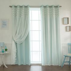 Laurel Foundry Modern Farmhouse Jacksonburg Lace Overlay Nature/Floral Blackout Thermal Grommet Curtain Panels Size per Panel: W x L, Curtain Home Curtains, Grommet Curtains, Panel Curtains, Curtain Panels, Blackout Curtains, Big Window Curtains, Brown Curtains, Curtains Living, Hanging Curtains