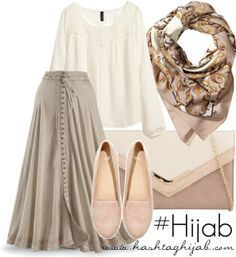 Hijab fashion button front skirt
