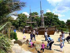 Princess Diana Memorial Playground: The pirate ship and surrounding sandy sea form the centre piece of the playground.