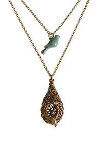 Lucky Brand Jewelry Layered Necklace - Trend-right with a timeless twist, this long necklace is set in gold-tone for a classic touch. It features a triangle and feather pendant for a fine finish. Fashion Jewelry Necklaces, Fashion Necklace, Jewelery, Jewelry Watches, Women Jewelry, Layered Jewelry, Layered Necklace, Lucky Brand Jewelry, Look Boho