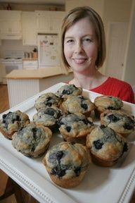 Blueberry Muffins with honey instead of sugar... from the WSJ.