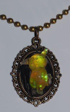 holographic pikachu pendant necklace