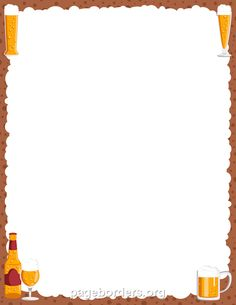 printable beer border use the border in microsoft word or other programs for creating flyers