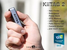 KiiTAG 2 – Digital Swiss Knife for Android and iOS. Based on the concept of a digital Swiss Knife, KiiTAG 2 offers the functionality of multiple devices in one compact and sleek solution.