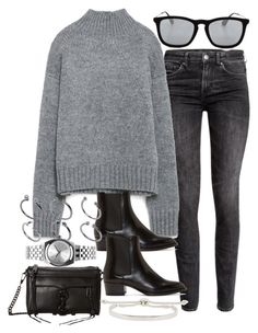"""""""Sin título #1848"""" by alx97 ❤ liked on Polyvore featuring H&M, Zara, Yves Saint Laurent, Ray-Ban, Rebecca Minkoff, ASOS, Nixon and Monica Vinader"""