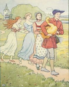Classic Fairy Tale - Illustration For The Golden Goose