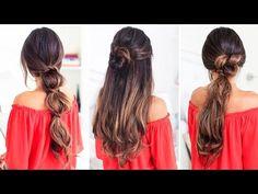3 Lazy Hairstyles | Luxy Hair - YouTube
