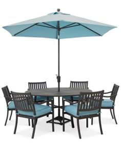 Holden Outdoor Aluminum Dining Set Round Dining Table And 6 Dining Chairs),  Created For Macyu0027s   Outdoor U0026 Patio Furniture   Furniture   Macyu0027s