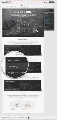 Redesign of a digital agency's website on Behance