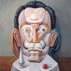 Interesting optical illusion portrait by Oleg Shuplyak.