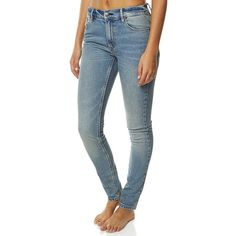 Res Denim Women's Kitty Skinny Jean Womens Slimfit Blue ($52) ❤ liked on Polyvore