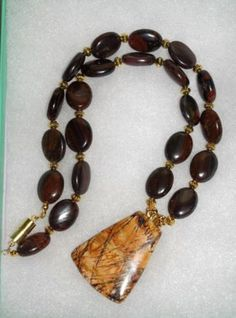 121  Australian Tiger Iron Necklace with Petrified by SCLadyDi, $29.95