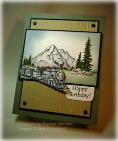 by the sea gina k on Pinterest | Christmas Train, Stamp Sets and ...