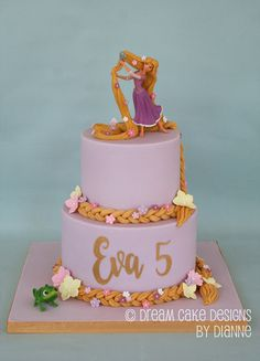 'EVA' ~ 2 TIER PRETTY RAPUNZEL THEMED CAKE White Chocolate Ganache, Chocolate Spread, Chocolate Buttercream, Rapunzel Birthday Cake, 5th Birthday, Birthday Cakes, Dream Cake, Cake Toppings, Themed Cakes
