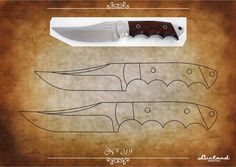 facón chico: Moldes de Cuchillos Knife Template, Benchmade Knives, Knife Patterns, Diy Knife, Damascus Steel, Knife Making, Metal Working, Knifes, How To Make