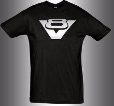 V8 T-Shirt for Hemi Hot Rod Dodge BMW Scania Ford jaguar  Chevrolet