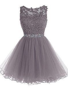 2017 Sexy A Line Grey Short Prom Dress,Lace Appliques Bodice Party Dress,Beading Belt Cocktail Dress,Chiffon Homecoming Dress