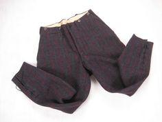 Baker's pants - Men's Wool Hunting Pants 1950s 1960s Vintage by NormalAveVintage