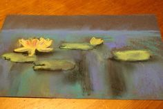 Water lily pastel tutorial