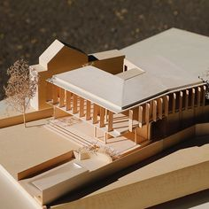 Architecture Model Making, Timber Architecture, Architecture Student, Architecture Drawings, Architecture Details, Public Library Design, Arch Model, Entrance Design, Scale Models