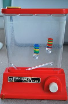 There were so many versions of this water games in the 80s. Great for parents/kids on a budget.  #vintagetoys