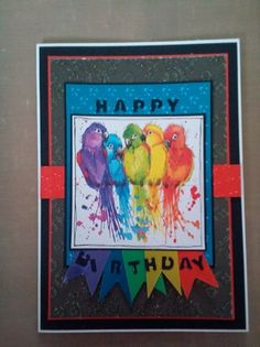 Funky and bright (using papers from making cards October 2015)