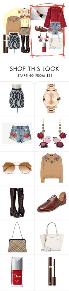 """""""Untitled #336"""" by ahdelnosh on Polyvore featuring Zara, Movado, Blume, Marni, Fendi, Dolce&Gabbana, Freda Salvador, Burberry, Karl Lagerfeld and Christian Dior"""