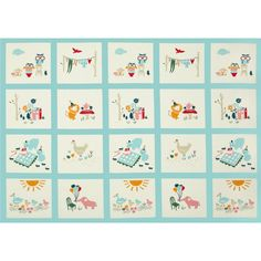 Birch Organic Everyday Party Everyday Panel Multi from @fabricdotcom  Designed by Emily Isabella for Birch Organic Fabrics, this this GOTS certified organic cotton print fabric is perfect for quilting, apparel and home décor accents. Colors include off white, pink, green, grey, orange, green and red.  This panel measures approximately 25'' x 44''.