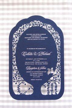 A Fig Tree Laser Cut Wedding Invitations by Mr & Mrs
