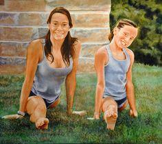 GRAND ÉCART IN THE GARDEN (2015) FIGURA 80X90cm OLI SOBRE FUSTA ENTELADA #barcelona #mercearmengol #artista #ilustradora #pintora #cuento #infantil #retrato #retratoporencargo