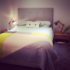 My bedroom tonight looking pretty with new stud cushion from @crateexpectations @mardimason  you need one
