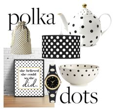 """#polkadots2"" by viola-carrara on Polyvore featuring interior, interiors, interior design, Casa, home decor, interior decorating, Kate Spade e Miss Étoile"