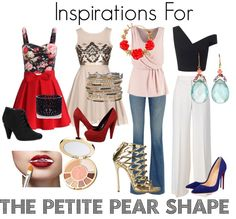"""""""Inspirations For The Petite Pear Shape"""" by fiza-malhotra on Polyvore"""