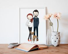 Awesome custom Family Portrait illustration for Mother's Day - this artist works so fast, and you get a PDF to print.
