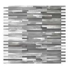 Eden Mosaic Tile Gray Blends Thin Lines Aluminum Mosaic Tile Sheet Stacked Slabs Of Pure Silver Almost These Metal Mosaic Tiles Mosaic Tiles Tile Trends