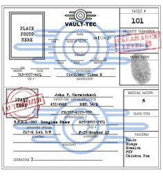 """Teen Bunker Video Game Room Prop """"Vault-Tec ID Card"""""""